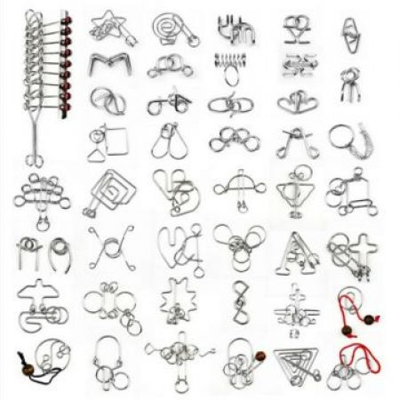 Chinese IQ Ring Wire Metal Puzzle