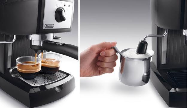 11 off pump driven espresso cappuccino maker free set of 2 espresso cups and kimbo coffee. Black Bedroom Furniture Sets. Home Design Ideas