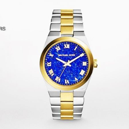1280054e041d 40% Off Michael Kors Channing Two -Tone Blue Dial Watch (Only  240 instead  of  400) - Makhsoom