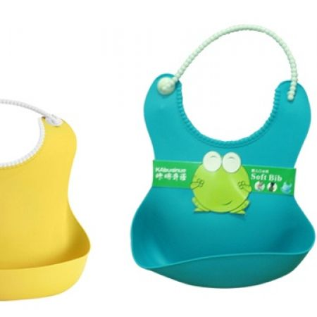 75% Off Turquoise Soft Rubber Baby Bib (Only $2.5 instead of $10)
