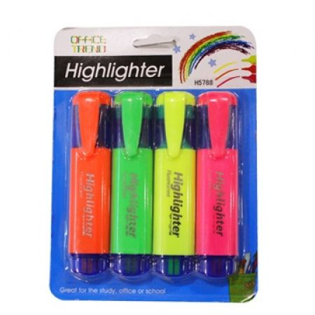 50% Off Set of 4 - Highlighter Fluorescent (Only $2.5 instead of $5)