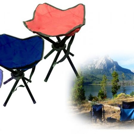 40% Off Small Foldable Portable 4 Legs Camping Chair - Blue (Only $6 instead of $10)