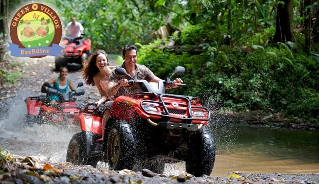 50  off 30 min  atv ride with guide from green village bzebdine  bzebdine  only  15 instead of