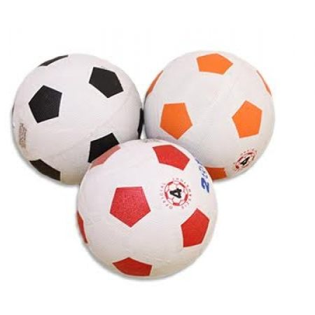 50% Off Rubber Cover Soccer Nylon Wound - White & Orange (Only $3.5 instead of $7)
