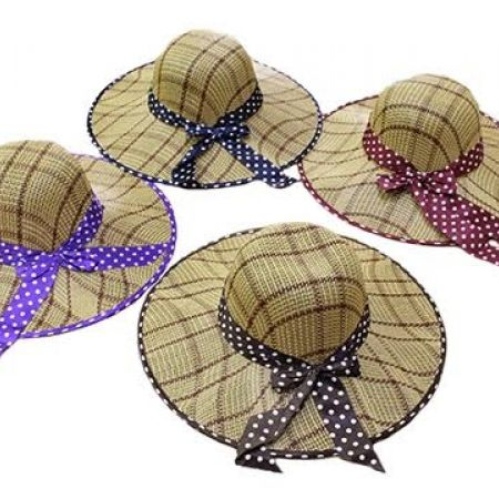 50% Off Plastic Beach Hat With Ribbon - Purple (Only $3.5 instead of $7)