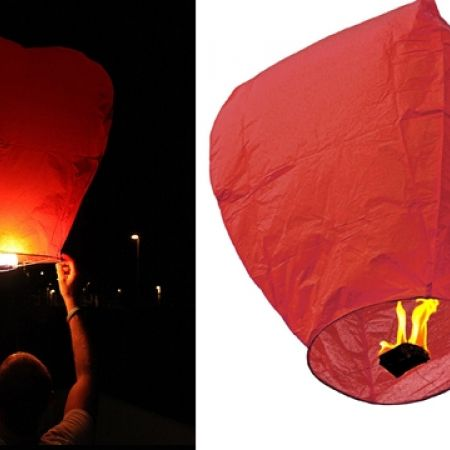 50% Off Chinese Flying Wish Red Sky Lantern (Only $2 instead of $4)