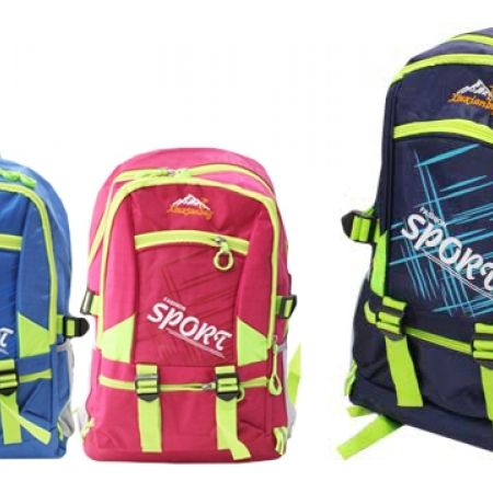 Fashion Sport Backpack - Pink & Green