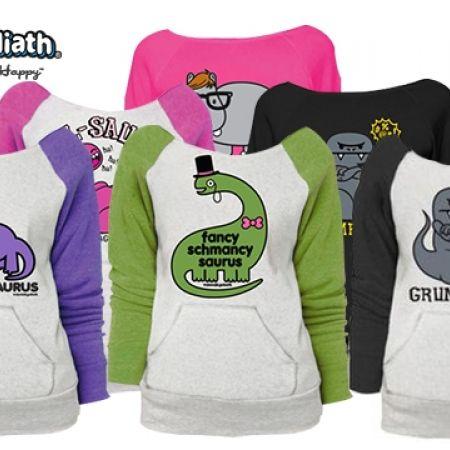 58% Off David & Goliath Animal Sweatshirts for Women - Grumposaur Black - X-Small (Only $21 instead of $50)