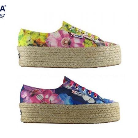 49Superga Fabricfanplropew Floral Bluepink 2790 37 Sneaker W9EDYH2I