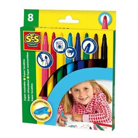 18% Off SES Washable Maxi Marker Pens - 8 Colors (Only $9 instead of $11)