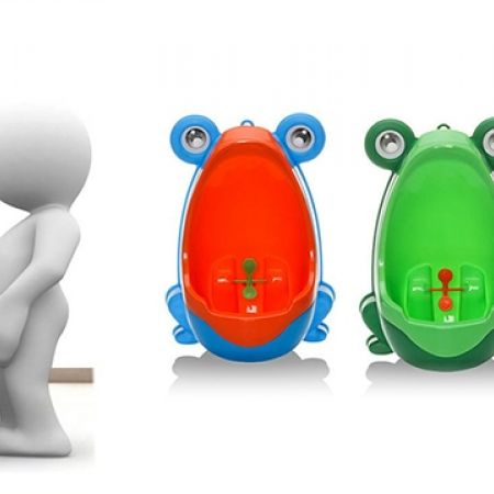 Lovely Frog Wall Mounted Potty Training - Green