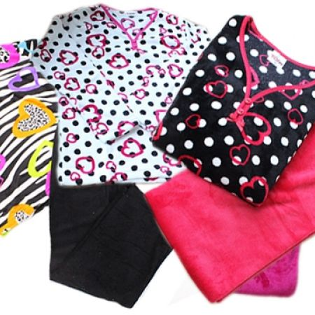 21% Off Ritex 2-Piece Fleece Pajama Set for Women - Polka Dot White/Pink - Small (Only $13.50 instead of $17)