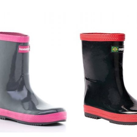 72% Off Havaianas Brazil Rainboots - Grey/Pink - 26 (Only $15 instead of $54)
