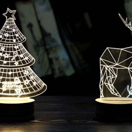 24% Off 3D Christmas Tree LED Light Table Lamp (Only $19 instead of $25)