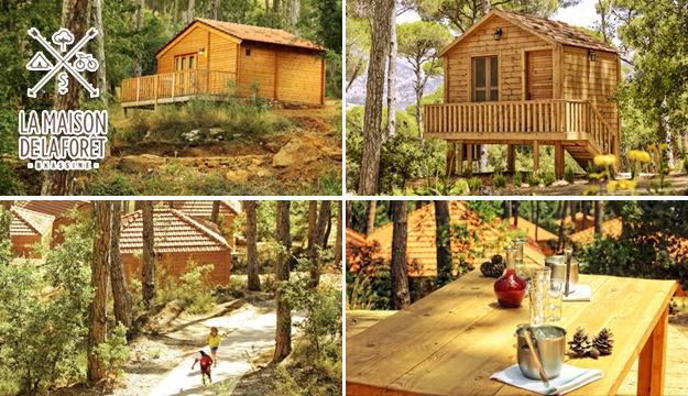 50 1 stay in a bungalow with breakfast for 2 from la maison de la foret bkassine