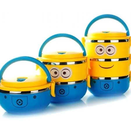 3 Layers Minions Lunch Box
