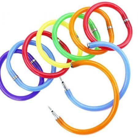 33% Off Flexible Ball Pen Cute Soft Plastic Bangle Bracelet - Orange (Only $4 instead of $6)