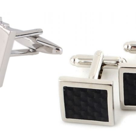 33% Off Stainless Steel Silver Men's Cufflinks Poker (Only $8 instead of $12)