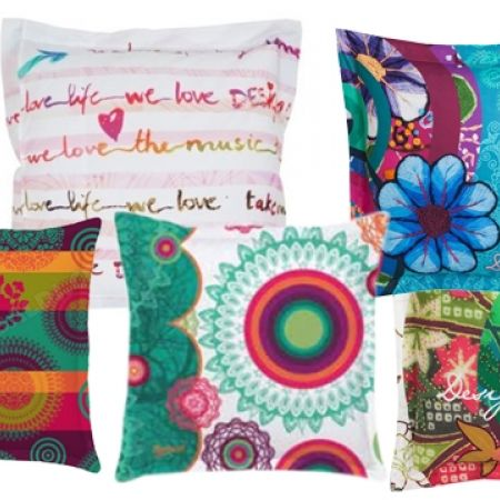 40% Off Desigual Pillow Case Cotton - Love Pocket - 65X65 cm (Only $28 instead of $47)