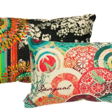 40% Off Desigual Filled Negro Cushion - 30X50 cm (Only $39 instead of $65)