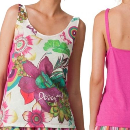 41% Off Desigual Tropical Pajama Top - S/M (Only $44 instead of $74)