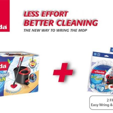 Vileda Easy Wring 2 Free Clean Refills Mop