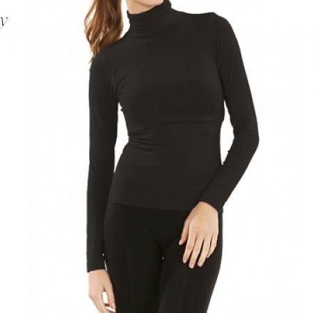 Johnny Grey High Collar Top - One Size - Black - Women (Only $20.00)