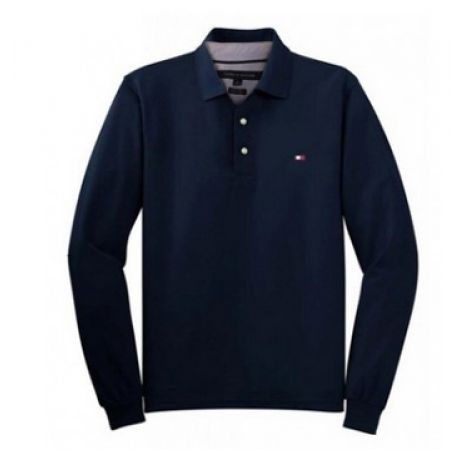 d8df9438 54% Off Tommy Hilfiger Long Sleeve Polo Shirt - Small - Navy Blue - Men  (Only $83 instead of $180)