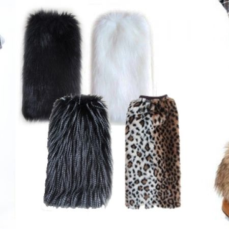 68% Off Women's Faux Fur Boot Cuff - White/Black (Only $6 instead of $19)