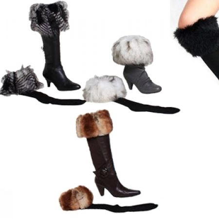 50% Off Women's Faux Fur Boot Socks - Black (Only $4 instead of $8)