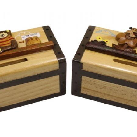 30% Off Wood Money Box - Teddy Bear (Only $7 instead of $10)