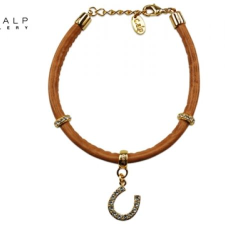 50% Off CrystalP Discontinued Gold Alloy Horseshoe Bracelet - Women (Only $46 instead of $92)