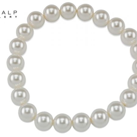 50% Off CrystalP Pearls Magda Bracelet - White - Women (Only $26 instead of $52)