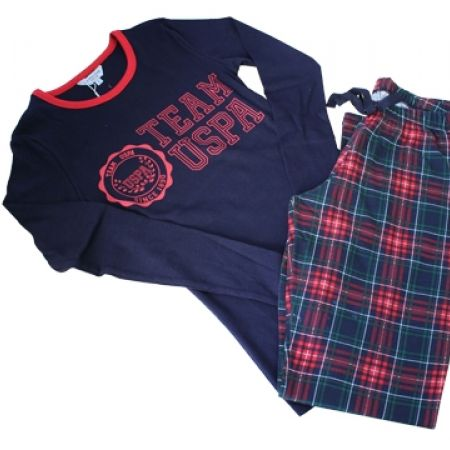 58% Off USPA Set Of 2 Pcs Checkered Pajama - Red/Navy - small - Women (Only $33 instead of $79)