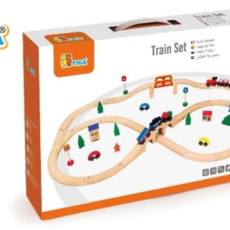 18% Off Viga Wooden Train Set - 49 Pcs (Only $84 instead of $103)
