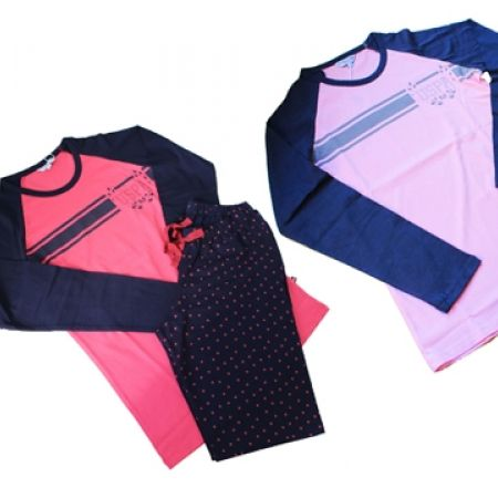 58% Off USPA 2-Piece Raglan and Dots Pajama Set - Coral - Women - S (Only $33 instead of $79)