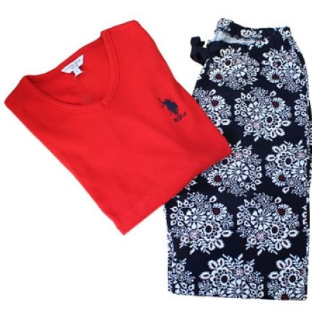 58% Off USPA 2-Piece Floral Pajama Set - Red - Women - S (Only $33 instead of $79)