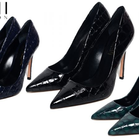 70% Off Francesco Protti Coco Lucido Stiletto High Heels - Black - Size:36 - Women (Only $108 instead of $359)