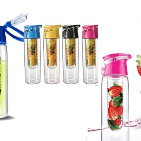 38% Off High Qualtiy Sport Flip-top Plastic Fruit Infuser - Yellow (Only $7.50 instead of $12)