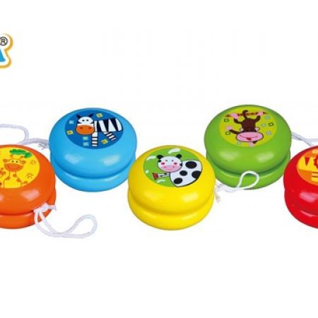 17% Off Viga Colorful Chunky Wooden Yoyo - Yellow/Cow (Only $5 instead of $6)