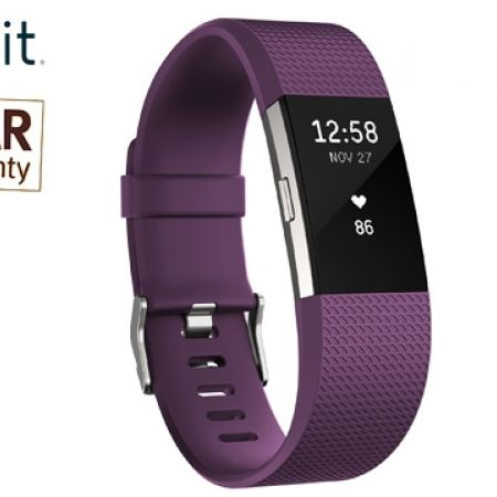 Fitbit Charge 2 - Large - Plum/Stainless Steel (Only $189)