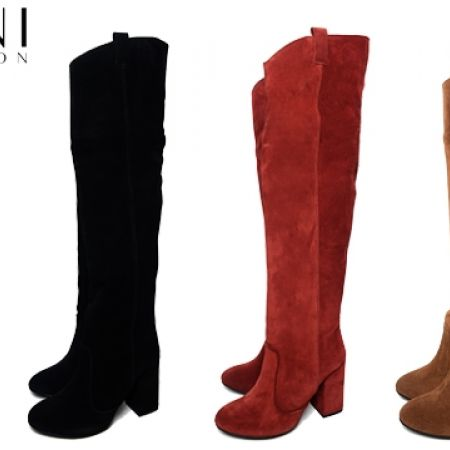 70% Off Francesco Protti Crosta Chamois Knee Boots - Nero - Size:36 - Women (Only $165 instead of $549)
