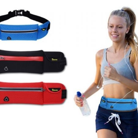 31% Off Outdoor Running Sport Waist Pack Travel Chain Strap - Black (Only $9 instead of $13)