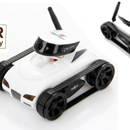 14 Off Ispy White Mini Wireless Spy Tank Rc Car With 0 3 Mp Hd