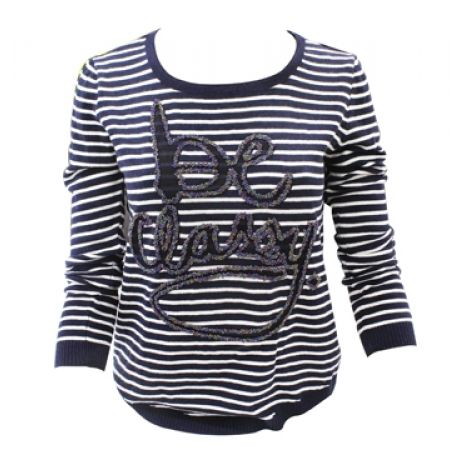 "34% Off Long Sleeve Round Neck Striped ""Be Classy"" Basic Top (Only $23 instead of $35)"