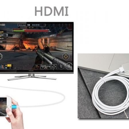27% Off Lightning Dock to HDMI HDTV Cable Adapter Cord For All IOS - Black (Only $22 instead of $30)