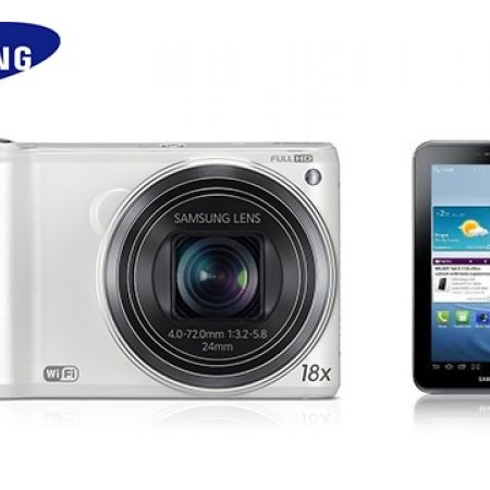 """47% Off Samsung Smart Digital Camera 14MP with Galaxy """"Tab 2"""" 3G GSM 8 inch - 8GB - White (Only $159 instead of $299)"""