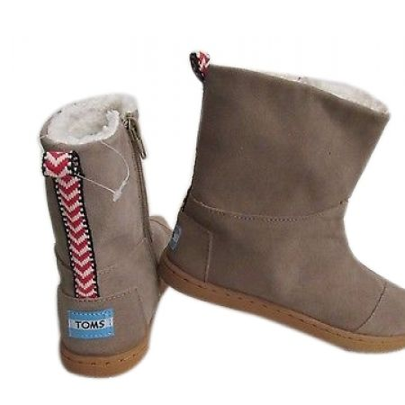 78% Off Toms Youth Nepal Suede Boots - Size: 31 - Sand - Kids (Only $20 instead of $90)