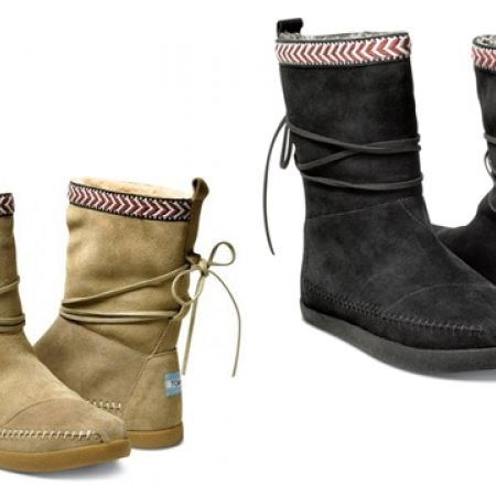 83% Off Toms Nepal Suede Boots - Size: 42 - Black - Women (Only $20 instead of $120)