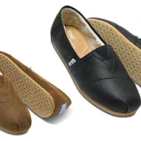 83% Off Toms Aviator Twill Flats - Size: 43 - Black - Men (Only $20 instead of $120)